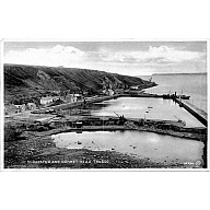 postcard 'Scrabster and Dunnet Head, Thurso' with 'St Ola' (I) at the pier.