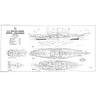 General arrangement plan of the sail training vessel Malcolm Miller