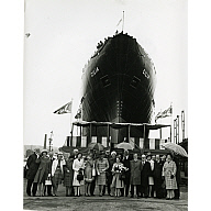 Guests at the launch of the trawler Gilia