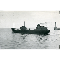 Black & white photograph of cargo vessel 'Thomas Goulden'