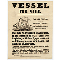 "Aberdeen Brig ""Waterloo"" Bill Of Sale"