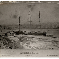 black and white photograph of clipper ship 'abergeldie'
