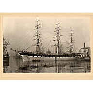 black and white photograph of clipper ship 'yalaroi'