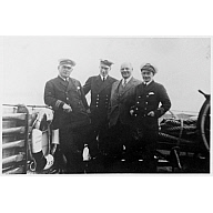 photograph taken aboard 'St Ola' (I) showing crew members