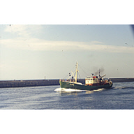 colour slide showing the trawler Gilmar in Aberdeen harbour