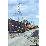 colour slide showing the trawler Netta Croan in Aberdeen harbour