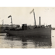 Photograph in album showing John Lewis built vessel Friarage