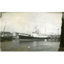 Black and White Photograph in album of ship 'St Clair' entering Aberdeen Harbour