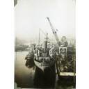 Black and White Photograph in album 'Star VII' and 'Enugu' alongside at Hall Russell's shipyard