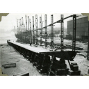 Photograph of the construction of steam Baltic timber carrier 'Binna'