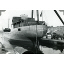 Black & white photograph of cargo vessel 'Stephen Brown'