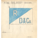 House Flag For The Steam Trawler 'doris Burton' Built By Hall Russell In 1914