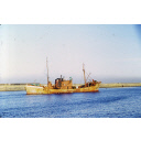 colour slide showing the trawler Ben Meidie in Aberdeen harbour