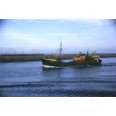colour slide showing the trawler Carency in Aberdeen harbour