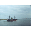 colour slide showing the trawler David Wood in Aberdeen harbour