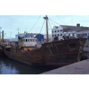 colour slide showing the trawler Strathdon in Aberdeen harbour