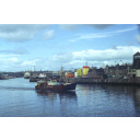 colour slide showing the trawler Grampian Eagle in Aberdeen harbour